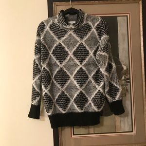 b654cf0b5 Reiss Sweaters - Reiss SOPHIE PATTERNED JUMPER BLACK WHITE
